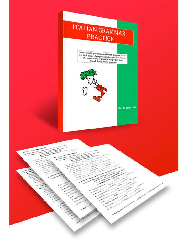 ITALIAN GRAMMAR PRACTICE - LETTER SIZE