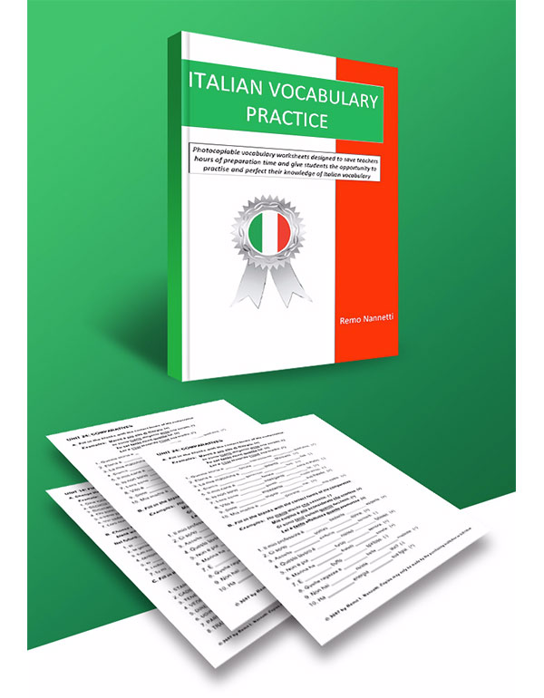 ITALIAN VOCABULARY PRACTICE - A4